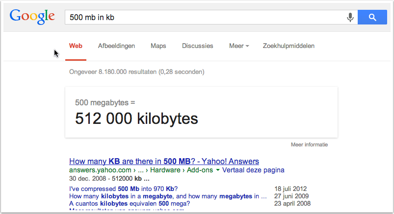 Image of the Google Search Result