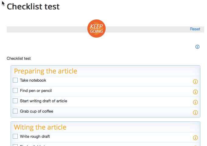 Our checklist about writing blog posts, as seen on http://lab30.toralkohost.com/index.php/a-checklist